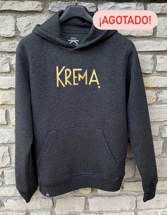 Sudadera Krema gris - print mustard