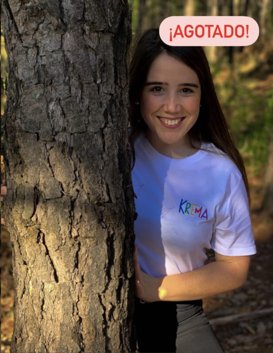 Camiseta Krema blanco - bordado color
